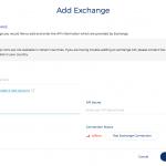 Add Exchange API details